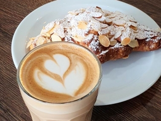 bun and coffee